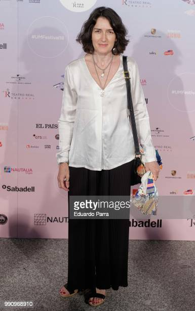 Angeles Gonzalez Sinde attends the 'The World of Hans Zimmer' concert photocall at Royal Theatre on July 3 2018 in Madrid Spain