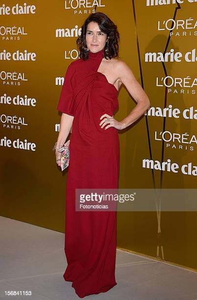 Angeles GonzalezSinde attends 'Marie Claire Prix de la Mode 2012' ceremony at the French Ambassadors Residence on November 22 2012 in Madrid Spain