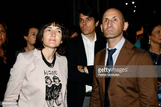 Angeles GonzalezSinde Guillermo Corrne and Modesto Lomba attend MMODANY Spanish Fashion Collection Ana Locking Carmen March Juanjo Oliva Juan Duyos...