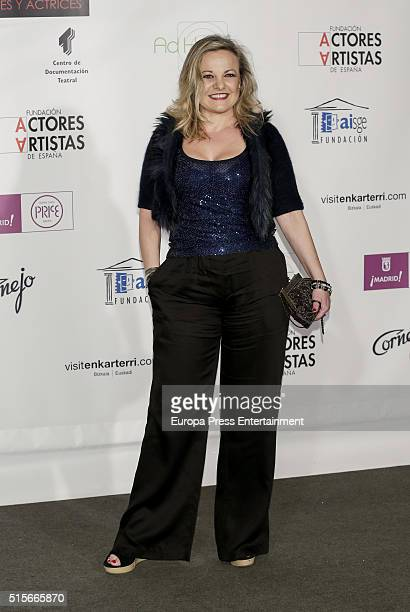 Angeles Martin attends the Union de Actores awards 25th anniversary on March 14 2016 in Madrid Spain