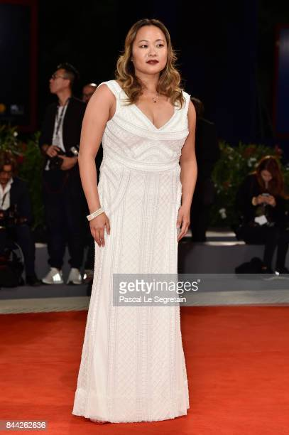 Angeles Woo walks the red carpet ahead of the 'Manhunt ' screening during the 74th Venice Film Festival at Sala Darsena on September 8 2017 in Venice...