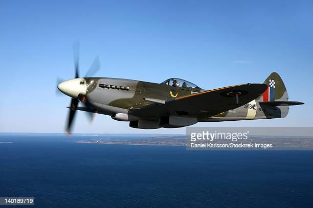 Angelholm, Sweden - Supermarine Spitfire Mk. XVIII fighter warbird.