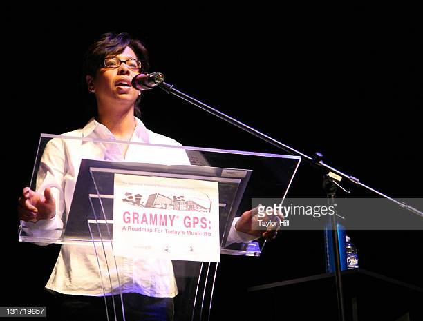 Angelia BibbsSanders attends the GRAMMY GPS panel discussions at Playhouse on the Square on April 16 2010 in Memphis Tennessee