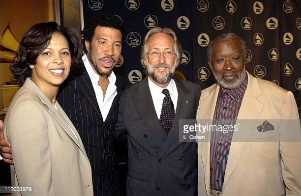 Angelia BibbsSanders Lionel Richie Recording Academy President Neil Portnow and Clarence Avant
