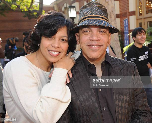 Angelia BibbsSanders VP Membership Recording Academy and Recording Artist Rickey Minor at The GRAMMY Foundation's National GRAMMY Career Day @ USC in...
