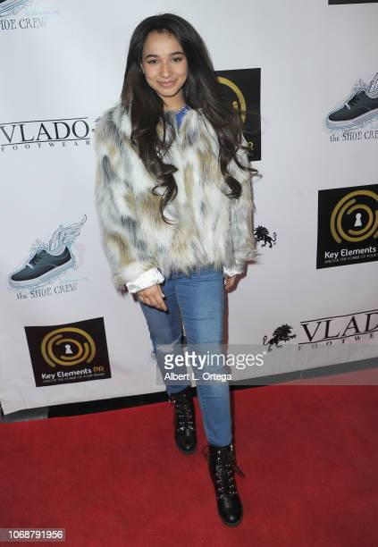 Angelic arrives for Hunter Payton And The Shoe Crew Holiday Charity Fundraiser Screening of Illumination's 'The Grinch' Benefiting The Woolsey Fire...