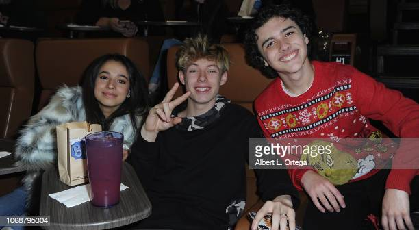 Angelic Mackenzie Sol and Hunter Payton attend Hunter Payton And The Shoe Crew Holiday Charity Fundraiser Screening of Illumination's 'The Grinch'...