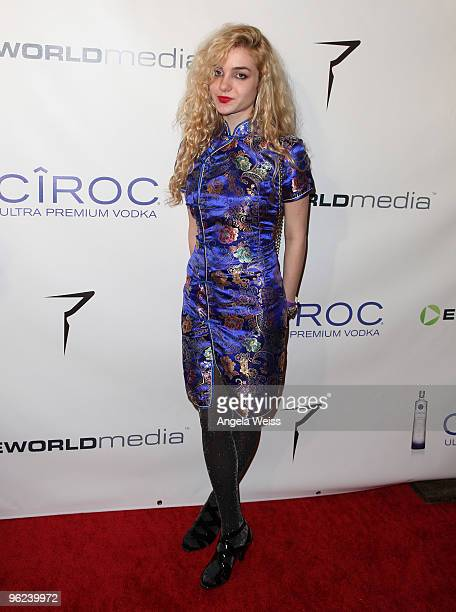 Angelica Andrews attends the 2010 eWorld Music Awards at the Conga Room LA Live on January 27 2010 in Los Angeles California