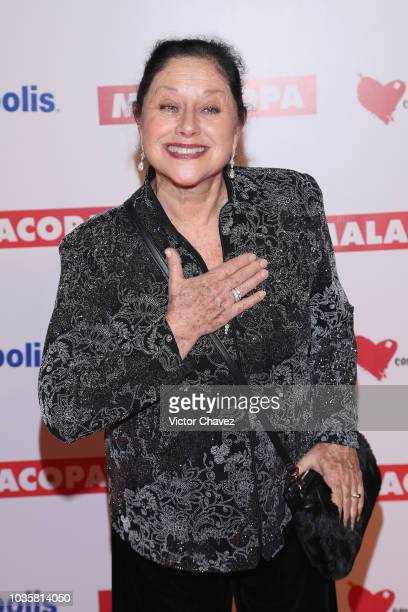 Angelica Aragon attends the Malacopa Mexico City premiere at Cinepolis Plaza Carso on September 18 2018 in Mexico City Mexico