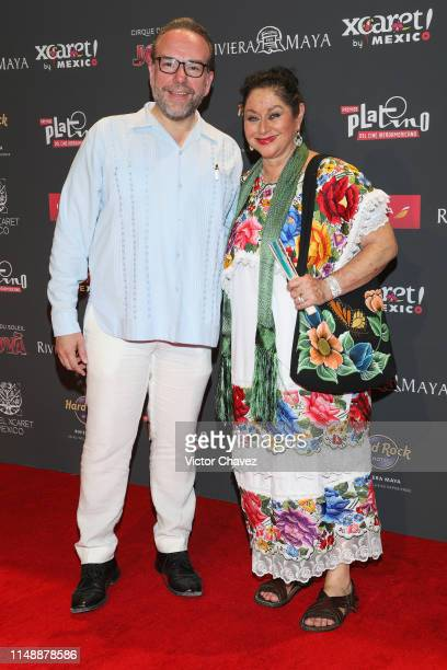 Angelica Aragon attends the red carpet of the Premios Platino 2019 at Occidental Xcaret Hotel on May 12 2019 in Playa del Carmen Mexico