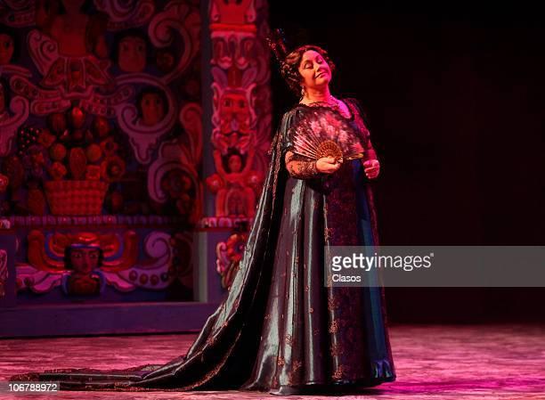 Angelica Aragon during El juicio de Hidalgo spectacle presentation at Hidalgo Theater on November 11 2010 in Mexico City Mexico
