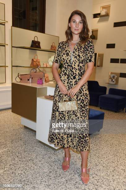 Angelica Ardasheva attends Delvaux Cocktails on September 19 2018 in Milan Italy
