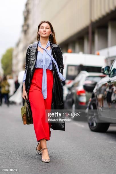 Angelica Ardasheva outside Giambattista Valli during Paris Fashion Week Womenswear Spring/Summer 2018 on October 2 2017 in Paris France