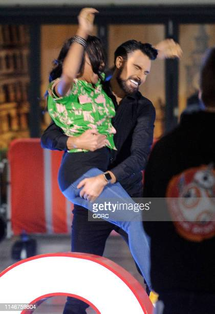 Angelica Bell and Rylan ClarkNeal seen presenting the One Show at BBC TV studios on May 03 2019 in London England