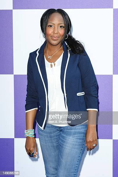 Angelica Bell attends as BT host Gala Reception at the BT River of Music, Somerset House - the curtain raiser to the London 2012 Olympic Games on...