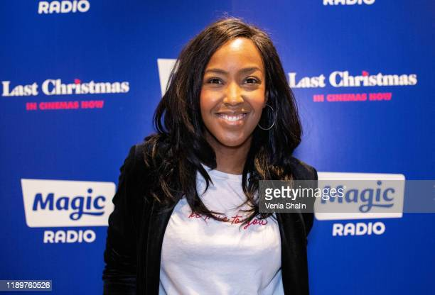 Angelica Bell attends Magic Radio's Magic of Christmas with 'Last Christmas' at London Palladium on November 24, 2019 in London, England.