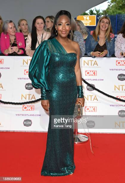 Angelica Bell attends the National Television Awards 2021 at The O2 Arena on September 09, 2021 in London, England.