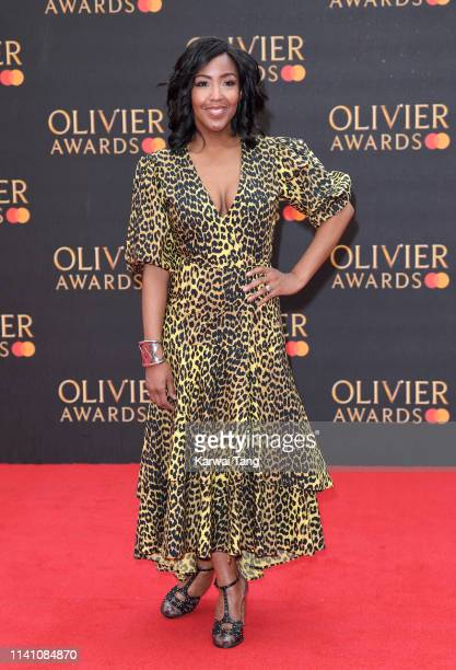 Angelica Bell attends The Olivier Awards 2019 with MasterCard at Royal Albert Hall on April 07, 2019 in London, England.