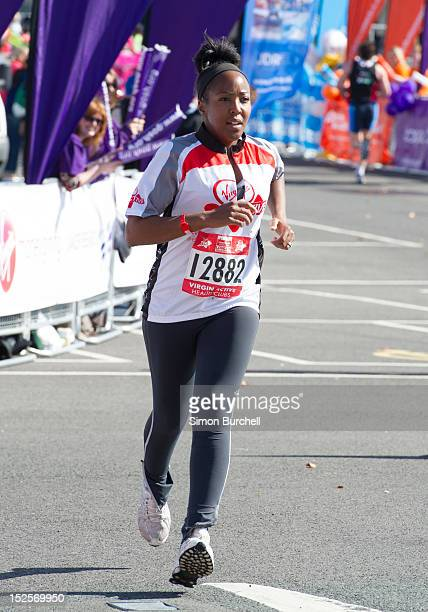 Angelica Bell competes in the Virgin Active London Triathlon at ExCel on September 22 2012 in London England