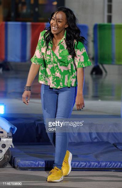 Angelica Bell seen presenting the One Show at BBC TV studios on May 03, 2019 in London, England.