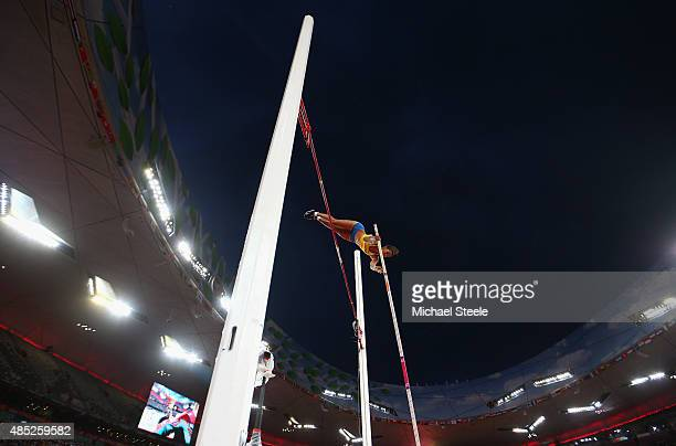 Angelica Bengtsson of Sweden competes in the Women's Pole Vault final during day five of the 15th IAAF World Athletics Championships Beijing 2015 at...