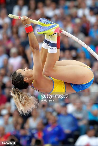 Angelica Bengtsson of Sweden competes in the Women's Pole Vault final during day three of the 16th IAAF World Athletics Championships London 2017 at...