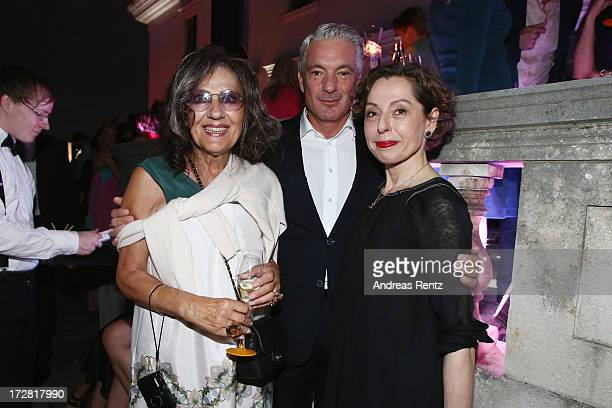 Angelica Blechschmidt Alois Loew and Margit J Mayer attend the Burda Style Group Preview Harper's Bazaar pre launch party during the MercedesBenz...