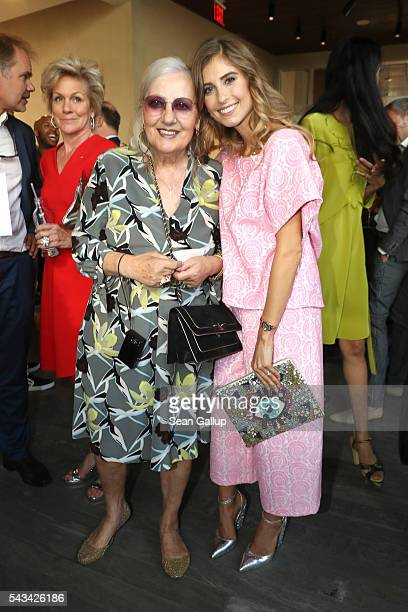 Angelica Blechschmidt and Cathy Hummels at the Sustainability Style event at the Embassy of The United States of America on June 28 2016 in Berlin...