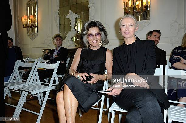 Angelica Blechschmidt and Christiane Arp attend Wolfgang Joop Shows Wunderkind Defile FALL / Winter at the Villa Wunderkind on May 10 2012 in Potsdam...