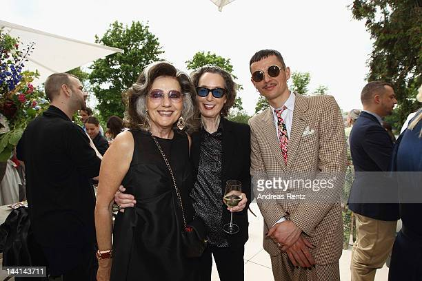 Angelica Blechschmidt and guests attend the Wunderkind Fall / Winter 2012 reception at Villa Wunderkind on May 10 2012 in Potsdam Germany