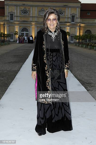 Angelica Blechschmidt arrive for the wedding party at at Charlottenburg Palace on September 8 2012 in Potsdam Germany