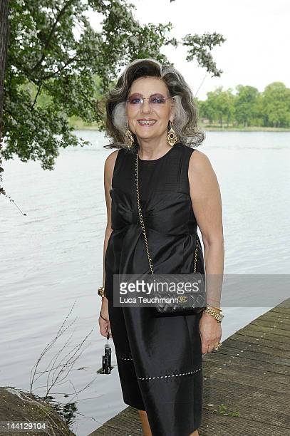 Angelica Blechschmidt attends Wolfgang Joop Shows Wunderkind Defile FALL / Winter at the Villa Wunderkind onMay 10 2012 in Potsdam Germany