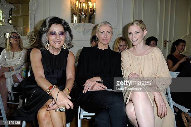 Angelica Blechschmidt Christiane Arp and Nadja Auermann attend Wolfgang Joop Shows Wunderkind Defile FALL / Winter at the Villa Wunderkind on May 10...