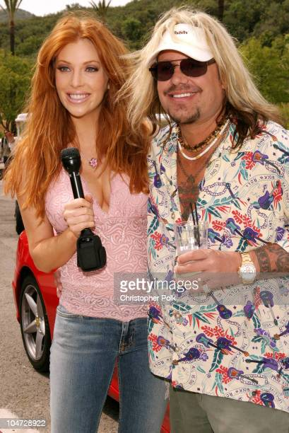 Angelica Bridges and Vince Neil during Skylar Neil Memorial Golf Tournament at Malibu Country Club in Malibu CA United States