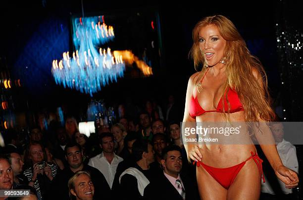 Angelica Bridges hosts a fashion show at Eve nightclub at CityCenter on May 15 2010 in Las Vegas Nevada