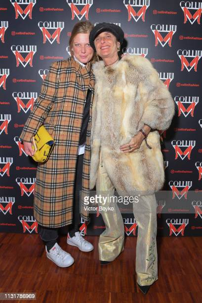 Angelica Carrara and Michela Gattermayer attend Collini Unminimal Party Milan Fashion Week Autumn / Winter 2019/20 on February 20 2019 in Milan Italy