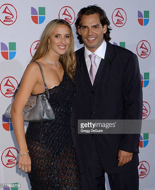 Angelica Castro and Cristian de la Fuente during The 6th Annual Latin GRAMMY Awards Arrivals at Shrine Auditorium in Los Angeles CA United States