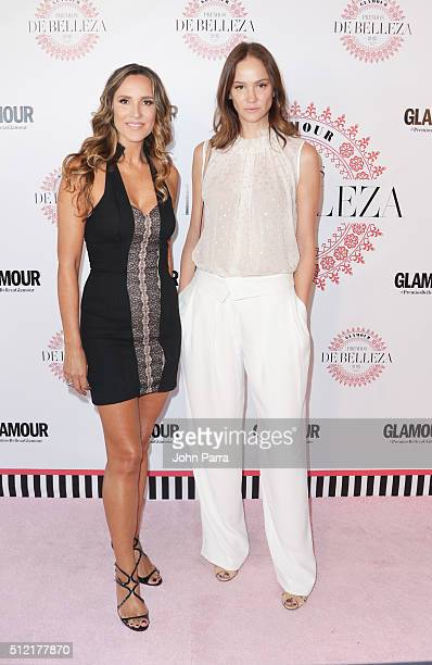 Angelica Castro and Ines Rivero attends the Glamour Beauty Awards Latin America 2016 at Palmeira Beach Club on February 24 2016 in Miami Florida