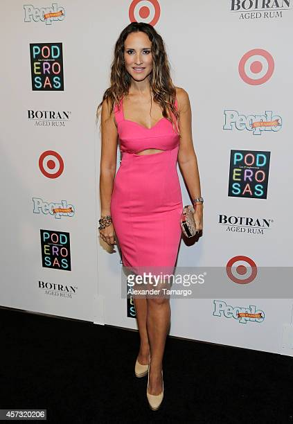 Angelica Castro arrives at the 25 Most Powerful Women of People en Espanol celebration at Coral Gables Country Club on October 16 2014 in Coral...