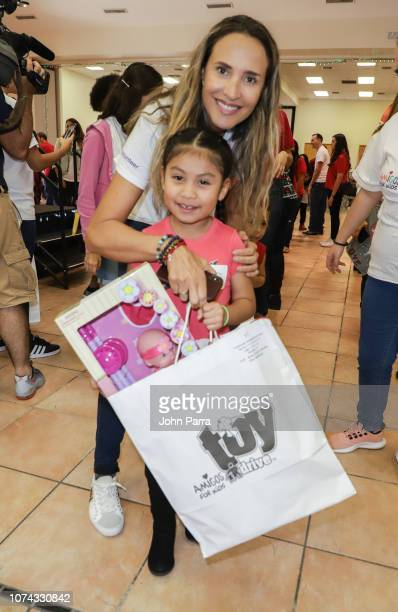 Angelica Castro attends the Amigos For Kids 27th Annual Holiday Toy Drive on December 16 2018 in Miami Florida