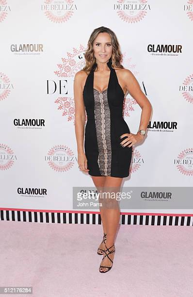 Angelica Castro attends the Glamour Beauty Awards Latin America 2016 at Palmeira Beach Club on February 24 2016 in Miami Florida
