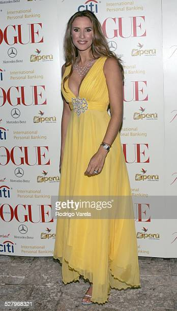 Angelica Castro during Vogue en Espanol Presents Spring Collection Red Carpet at Fisher Island in Miami Beach Florida United States