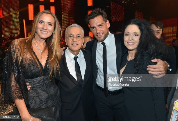 Angelica Castro honoree Caetano Veloso actor Cristian de la Fuente and actress Sonia Braga during the 2012 Person of the Year honoring Caetano Veloso...