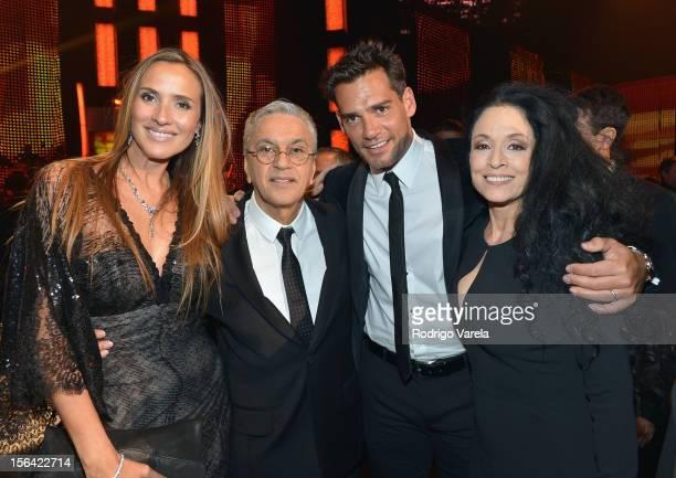 Angelica Castro honoree Caetano Veloso actor Cristian de la Fuente and actress Sonia Braga during the 2012 Person of the Year honoring Caetano Veloso...
