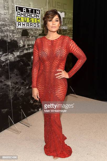 Angelica Celaya attends the 2017 Latin American Music Awards at Dolby Theatre on October 26 2017 in Hollywood California