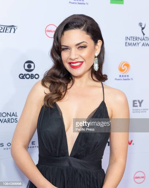 Angelica Celaya attends the 46th Annual International Emmy Awards at New York Hilton