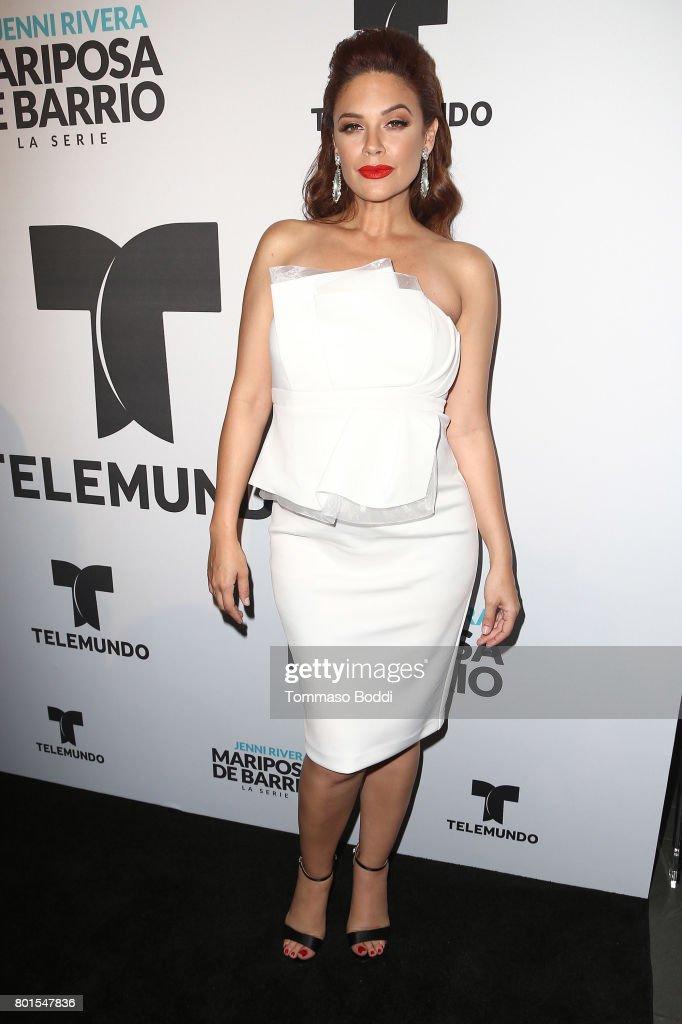 Angelica Celaya attends the Screening Of Telemundo's 'Jenni Rivera: Mariposa De Barrio' at The GRAMMY Museum on June 26, 2017 in Los Angeles, California.