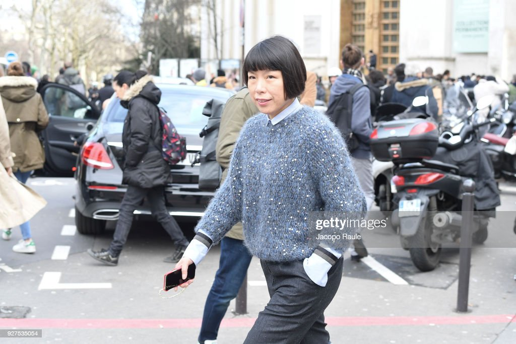 Angelica Cheung attends the Giambattista Valli show as part of the Paris Fashion Week Womenswear Fall/Winter 2018/2019 on March 5, 2018 in Paris, France.