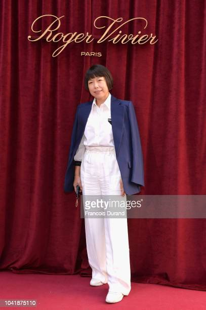 Angelica Cheung attends the Roger Vivier Presentation Spring/Summer 2019 during Paris Fashion Week on September 27 2018 in Paris France