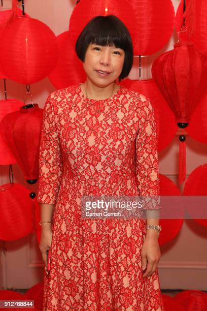 Angelica Cheung attends the Wendy Yu's Chinese New Year celebration at Kensington Palace on January 31 2018 in London England